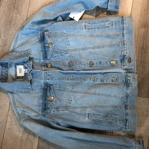 Forever 21 long denim jacket size small